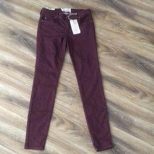 Alatr'd State NWT Maroon Skinny Jeans
